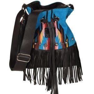 Handbags - STS Serape Bucket Bag